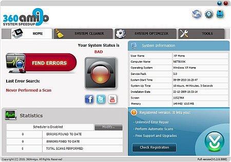 360amigo system speedup free indir