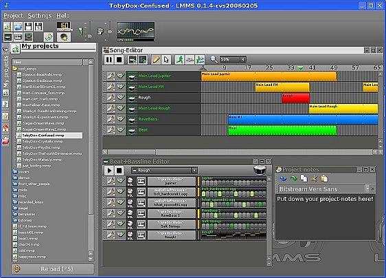 LMMS Linux MultiMedia Studio indir
