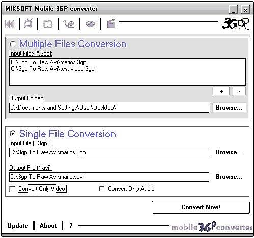 Mobile 3GP converter