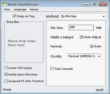 Moo0 Video Minimizer
