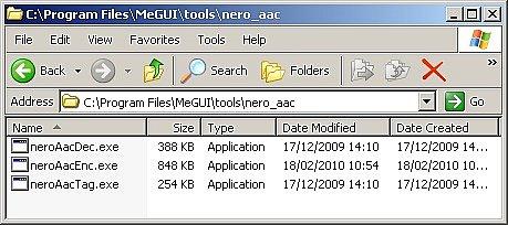 Nero AAC folder