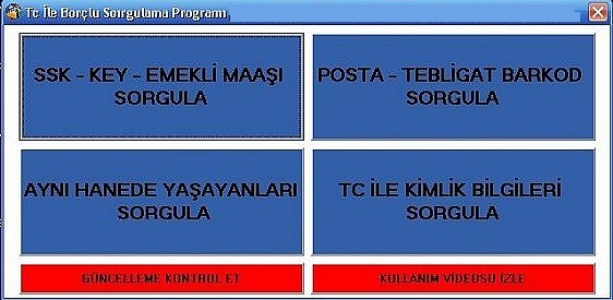 Tc ile Borclu Sorgulama Programi