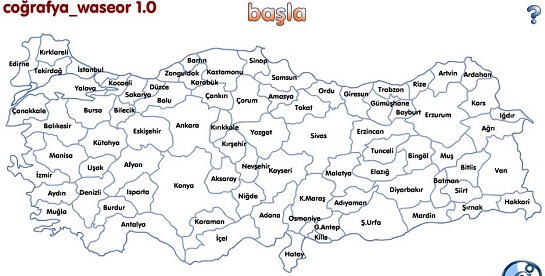 Turkiye haritasi oyunu