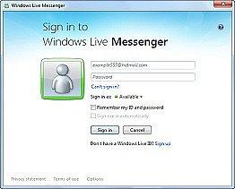 Windows Live Messenger inddir