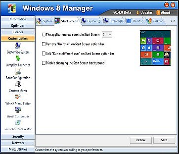 Windows 8 Manager indir