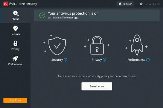 avira free antivirus inddir