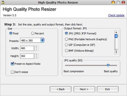 high quality photo resizer indir
